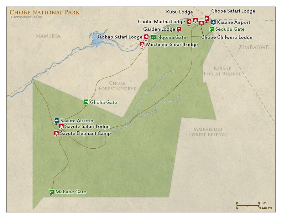 Chobe National Park MAP