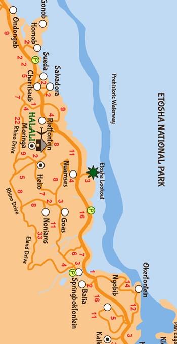 Etosha National Park Map